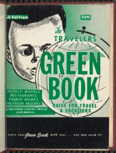 Cover of The Travelers' Green Book, 1960. These travel guides, published 1936 – 1966, provided information about lodging, restaurants, and other facilities that served African Americans. The full text of several editions is available online from the New York Public Library. Courtesy of The New York Public Library.