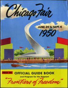 Cover of 1950s World's Fair Brochure