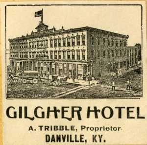 Hotel Advertising Card, late 1800s