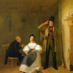 The Sportman's Last Visit (1835) by William Sidney Mount