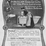 Maid in Standard Plumbing Advertisement, 1903