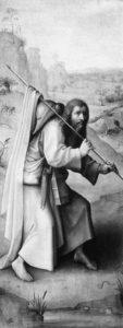 St. James as a pilgrim by Hieronymus Bosch, circa 1450–1516.
