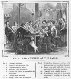 Bad Table Manners, 19th century