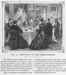 Good Dining Room Etiquette, 19th century