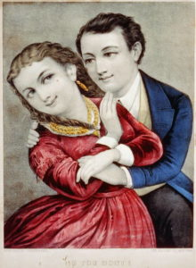 """""""No You Don't"""" by Currier and Ives"""