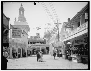 Dating at Coney Island, c. 1903.