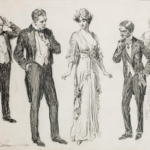 Two Suitors (c. 1913) by Charles Dana Gibson