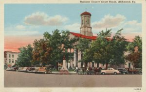 Postcard of Madison County Courthouse, Richmond, KY. Date unknown.
