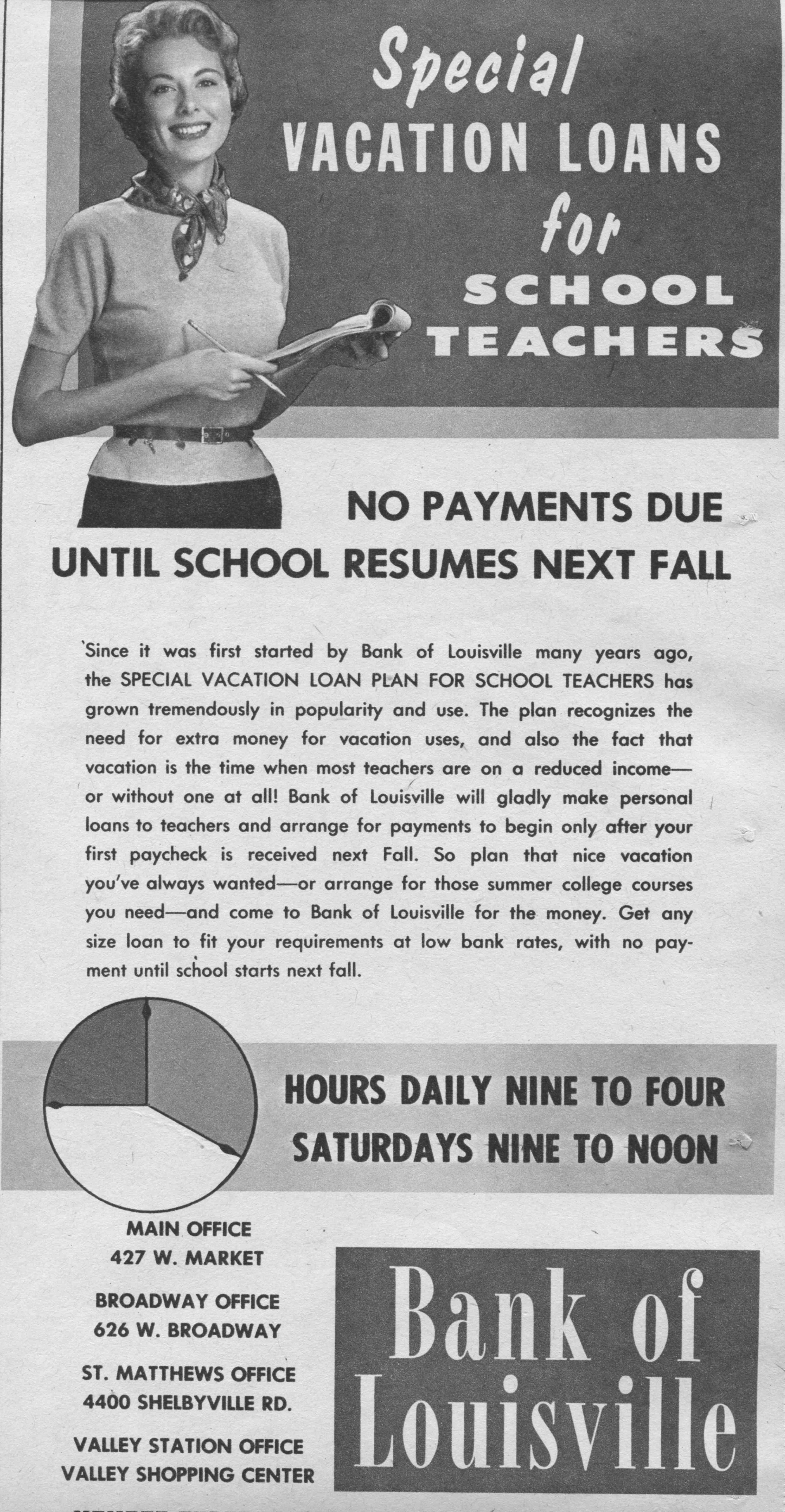 Travel Loan Ad, 1961