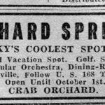 Kentucky Resort Advertisement, 1934