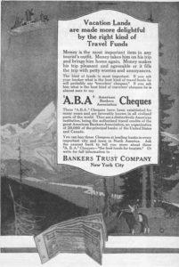 Traveler's Check Ad, 1919