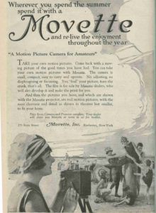 Motion Picture Camera Ad, 1919