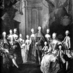 Portrait of wealthy, powerful family, 18th century.