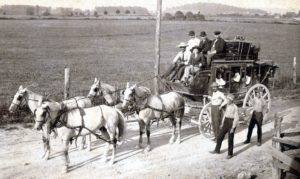 Monticello to Burnside KY stagecoach, early 19th century