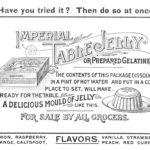 Advertisement for gelatin, c. 1891