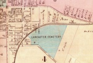 1897 map of Lancaster, KY by Beers and Lanagan