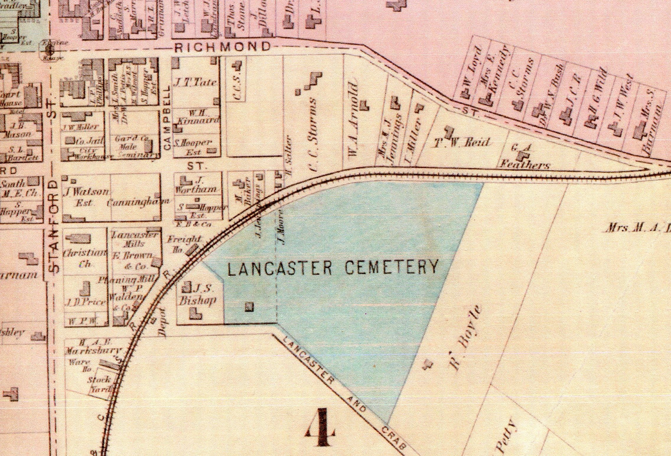Historical community maps as primary sources teaching with themes 1897 map of lancaster ky by beers and lanagan publicscrutiny Choice Image