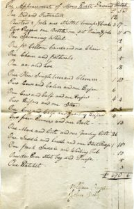 Estate Inventory, Kentucky, 1802