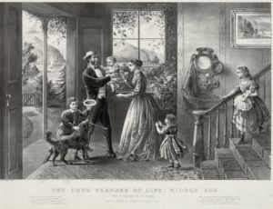 1868 Currier and Ives print, The Four Seasons of Life: Middle Age