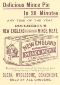 """Advertisement for early """"convenience"""" food, 1891"""