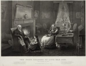 1868 Currier and Ives print, The Four Seasons of Life: Old Age