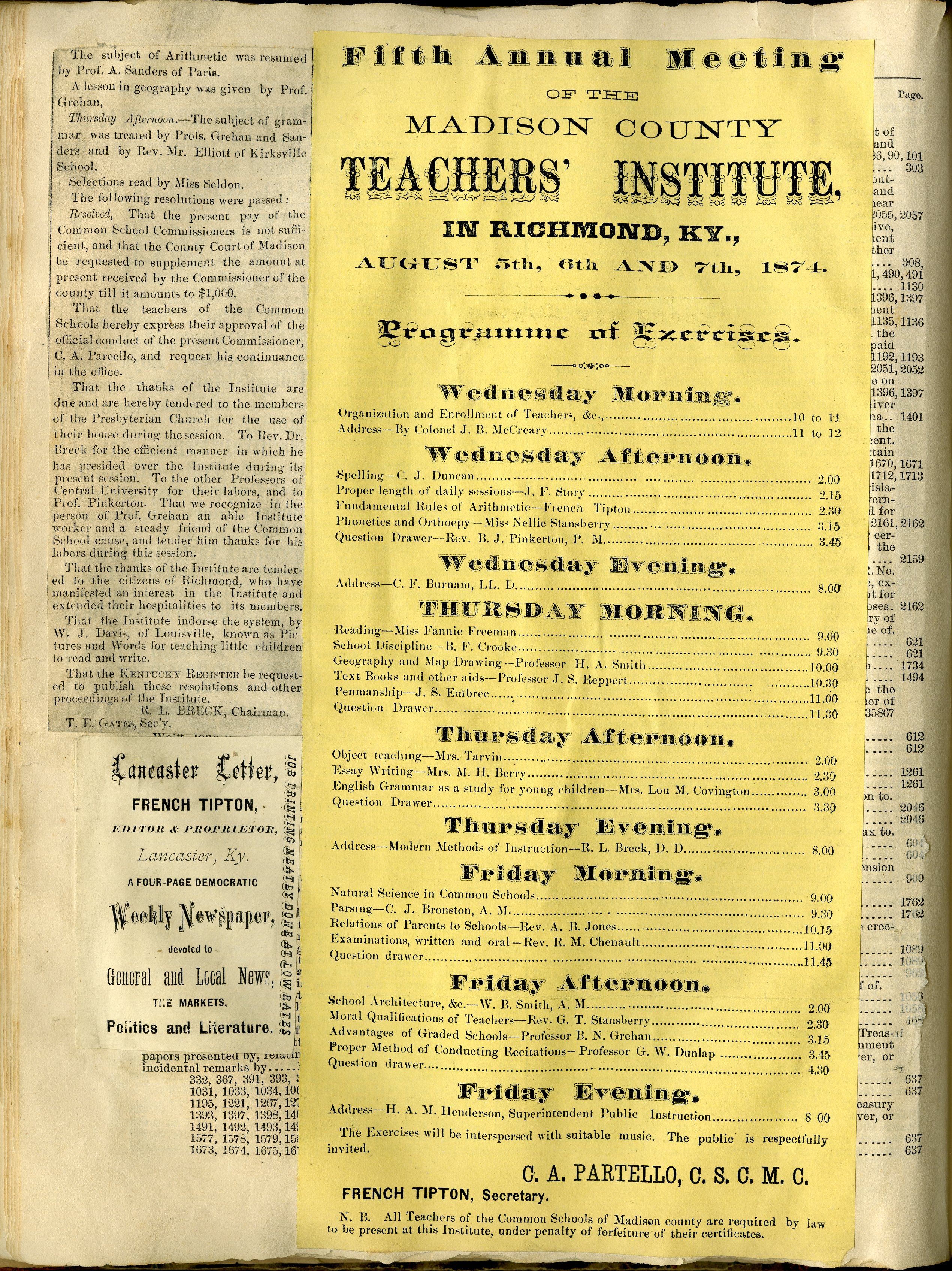 Scrapbooks: Comparing 19th century primary sources to 21st social media