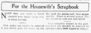 """Newspapers in the 19th and first half of the 20th century often featured """"For the Scrapbook"""" columns."""