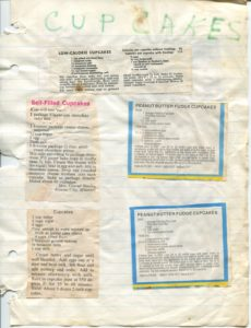 Recipes are often clipped and pasted into scrapbooks. This is a page from recipe scrapbooks of Helen Brown Williams (1912-1998).