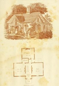 19th century house plan by Andrew Jackson Downing